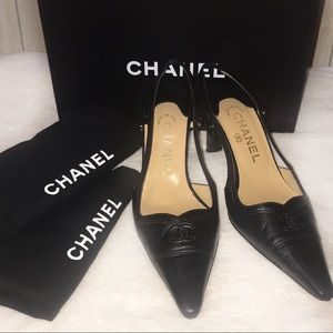 Chanel Slingback Classic Sandals 85MM size 37